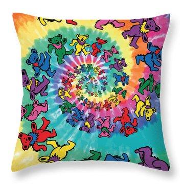 The Roller Bears Throw Pillow