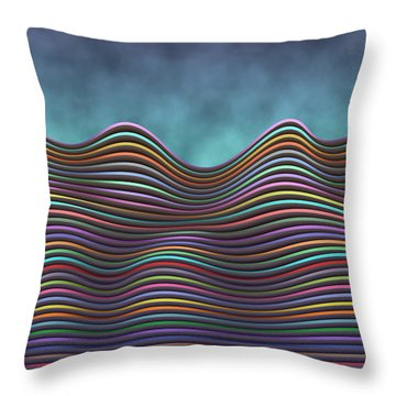 The Rolling Hills Of Subtle Differences Throw Pillow