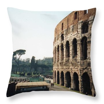 The Roman Colosseum Throw Pillow by Marna Edwards Flavell