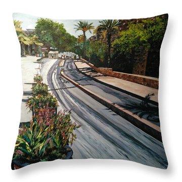 The Roman Wall Throw Pillow