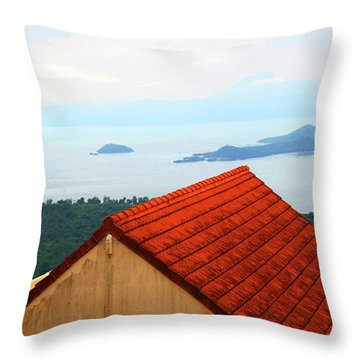 The Roof Be Told Throw Pillow