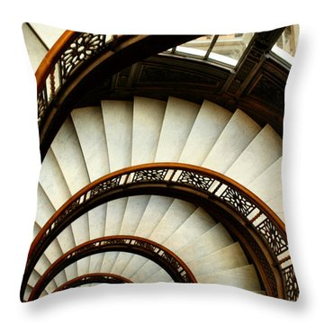 The Rookery Spiral Staircase Throw Pillow
