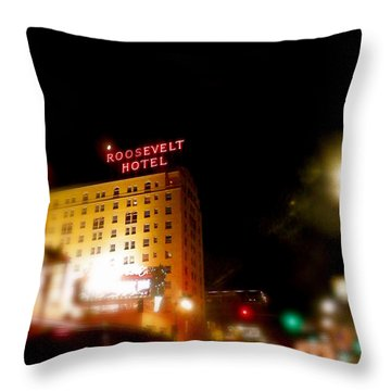 The Roosevelt Hotel By David Pucciarelli  Throw Pillow