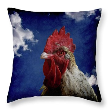 The Rooster Throw Pillow by Ernie Echols