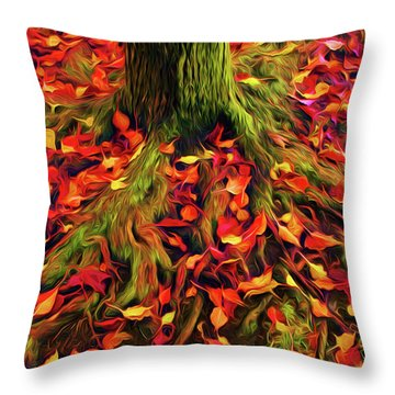 The Root Of Fall Throw Pillow