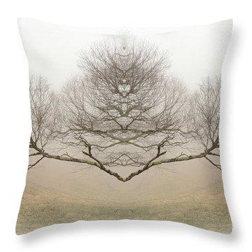 The Rorschach Tree Throw Pillow