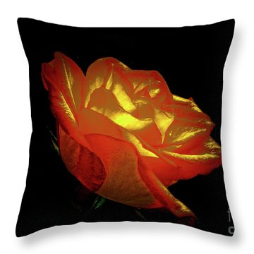 The Rose 3 Throw Pillow