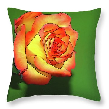 The Rose 4 Throw Pillow