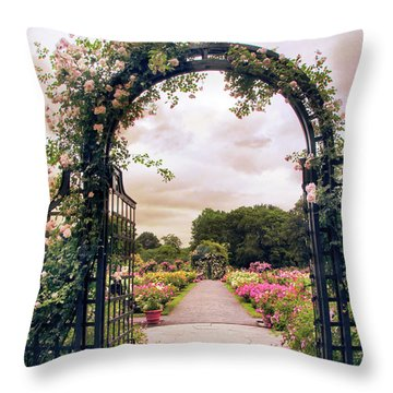 The Rose Allee Throw Pillow