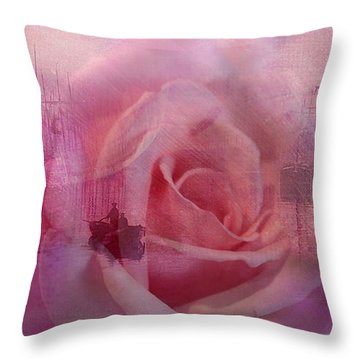 The Rose And The Sea Throw Pillow by Wallaroo Images