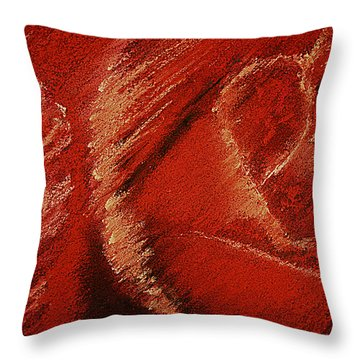 The Rose Throw Pillow by David Patterson