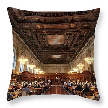 Throw Pillow featuring the photograph The Rose Reading Room II by Jessica Jenney