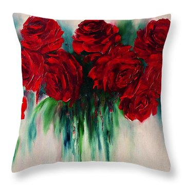 The Roses Of My Summer Throw Pillow