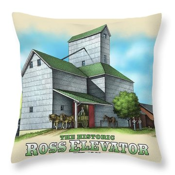 The Ross Elevator Throw Pillow