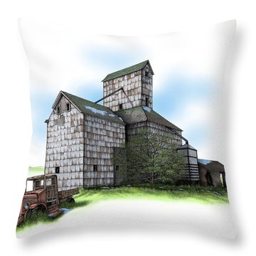 The Ross Elevator Spring Throw Pillow