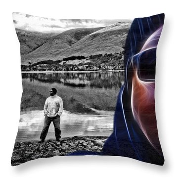 The Rough And The Rugged Throw Pillow by ISAW Gallery
