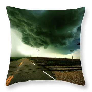 The Rough Road Ahead Throw Pillow