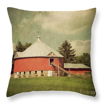 The Round Barn Throw Pillow by Joel Witmeyer