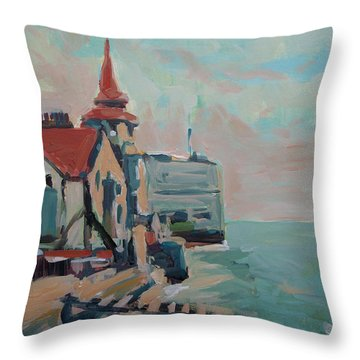 The Round Tower Of Portsmouth Throw Pillow