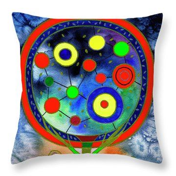 The Round Tree Throw Pillow
