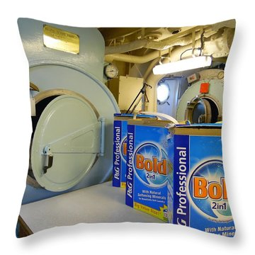 The Royal Britannia Laundry Room Throw Pillow