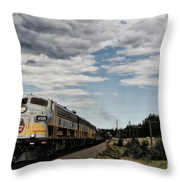 The Royal Canadian Pacific  Throw Pillow