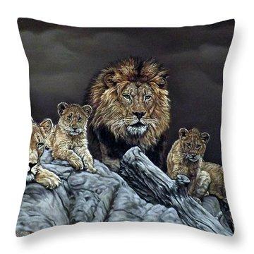 The Royal Family Throw Pillow