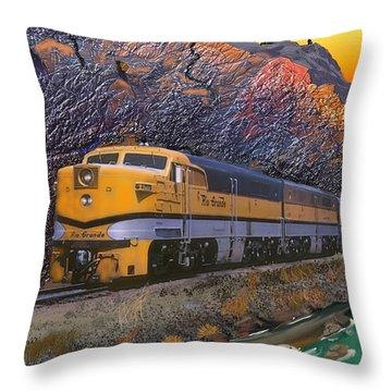 The Royal Gorge Throw Pillow