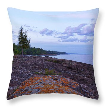 The Rugged North Shore Throw Pillow