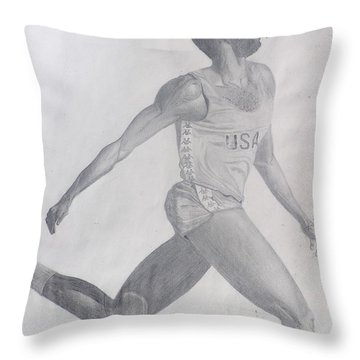 The Runner Throw Pillow