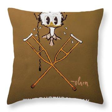 The Ruptured Duck Throw Pillow