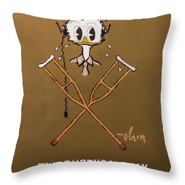 The Ruptured Duck Throw Pillow
