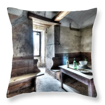 The Rural Kitchen - La Cucina Rustica  Throw Pillow