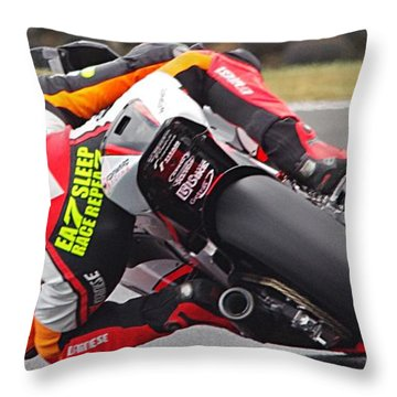 The Rush Throw Pillow by Blair Stuart