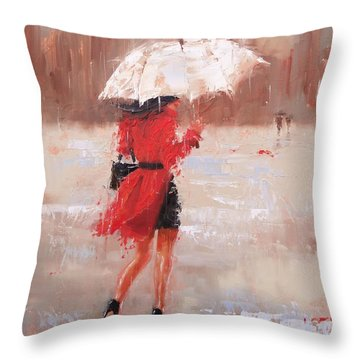 The Rush Throw Pillow by Laura Lee Zanghetti