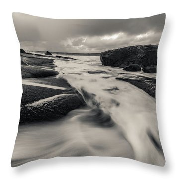 The Rush Of The North Sea Throw Pillow