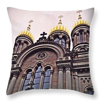 The Russian Church In Wiesbaden 2 Throw Pillow by Sarah Loft