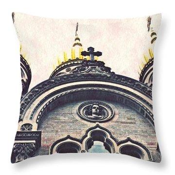 The Russian Church In Wiesbaden Throw Pillow by Sarah Loft