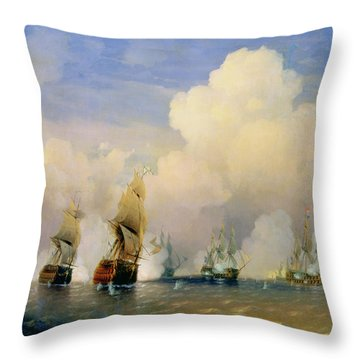 The Russo Swedish Sea War Near Kronstadt In 1790  Throw Pillow