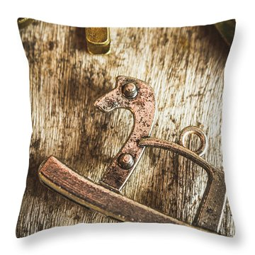 The Rusted Toy Horse Throw Pillow