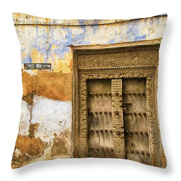 The Rustic Door Throw Pillow