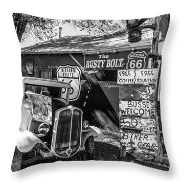 The Rusty Bolt Throw Pillow