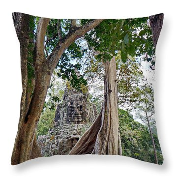 Throw Pillow featuring the photograph The S Gate by Arik S Mintorogo