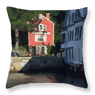 The Sacred Cod And Beacon Marine Throw Pillow