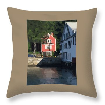 The Sacred Cod And Beacon Marine Throw Pillow by Melissa Abbott