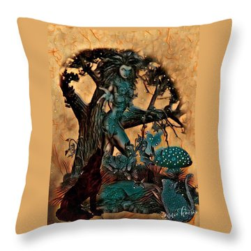The Sacred Waters Throw Pillow by Vennie Kocsis