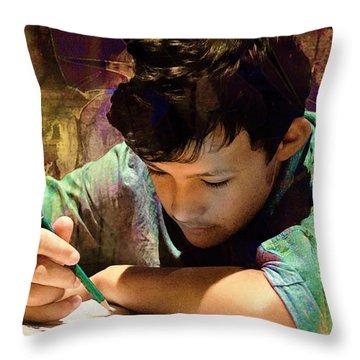 Throw Pillow featuring the photograph The Sacrifice by Kate Word
