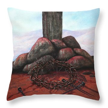 The Sacrifice Of His Love Throw Pillow by Michael Nowak