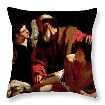 The Sacrifice Of Isaac Throw Pillow