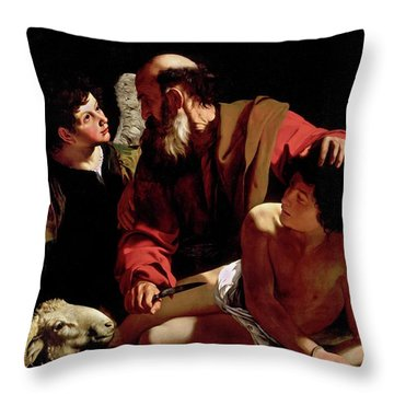 The Sacrifice Of Isaac Throw Pillow